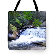 French Broad River Waterfall Tote Bag
