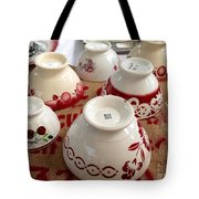 French Cafe Bowls Tote Bag