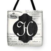 French Champagne Monogram Tote Bag