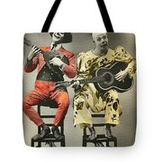 French Clown Musicians Vintage Art Reproduction Tint Tote Bag