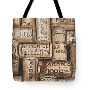 French Corks Tote Bag by Debbie DeWitt