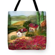 French Country Squared Tote Bag