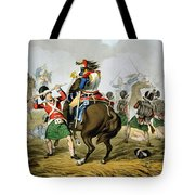 French Cuirassiers At The Battle Tote Bag by John Augustus Atkinson