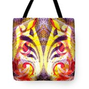 French Curve Abstract Movement Vi Mystic Flower Tote Bag