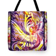 French Curve Abstract Movement Vii Happy Trio Tote Bag
