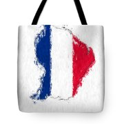 French Guiana Painted Flag Map Tote Bag