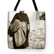 French Lady With A Very Large Bread France 1900 Tote Bag