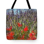 French Lavender Field Tote Bag