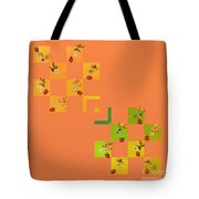 French Lillies Abstract Tote Bag