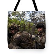 French Marines Scout Ahead Of A Patrol Tote Bag