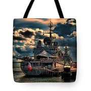 French Naval Frigate Tote Bag