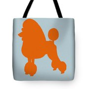 French Poodle Orange Tote Bag