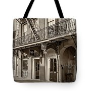 French Quarter Art And Artistry Sepia Tote Bag