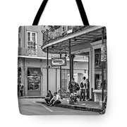 French Quarter - Hangin' Out Bw Tote Bag by Steve Harrington