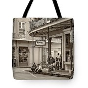 French Quarter - Hangin' Out Sepia Tote Bag