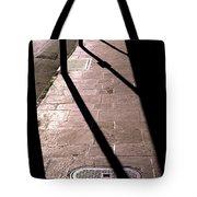 French Quarter Sidewalk Shadows New Orleans Tote Bag