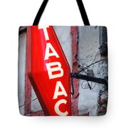 French Tobacconist Sign Tote Bag