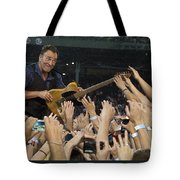 Frenzy At Fenway Tote Bag