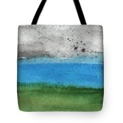 Fresh Air- Landscape Painting Tote Bag by Linda Woods