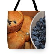 Fresh Blueberries And Muffins Tote Bag