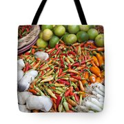 Fresh Chili Peppers Tote Bag