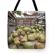 Fresh Coconuts Delivery Truck Tote Bag