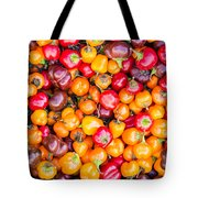 Fresh Colorful Hot Peppers Tote Bag