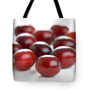 Fresh Cranberries Isolated Tote Bag