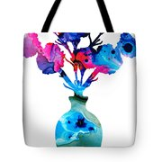 Fresh Cut - Vibrant Flowers Floral Painting Tote Bag