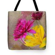 Fresh Flowers Painted Tote Bag