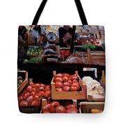 Fresh Fruits And Vegetables Tote Bag