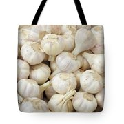 Fresh Garlic Bulbs Tote Bag