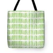 Fresh Grass- Abstract Pattern Painting Tote Bag by Linda Woods