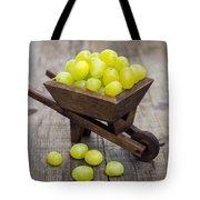 Fresh Green Grapes In A Wheelbarrow Tote Bag