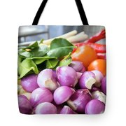 Fresh Ingredients For Cooking Chicken Curry Sauce Closeup Tote Bag
