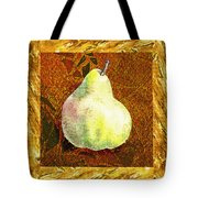 Fresh N Happy Pear Decorative Collage Tote Bag