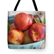 Fresh Nectarines Tote Bag