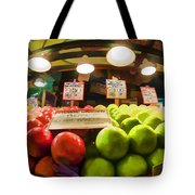 Fresh Pike Place Apples Tote Bag