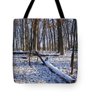 Fresh Snow In The Woods Tote Bag