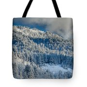 Fresh Snow On The Mountain Tote Bag