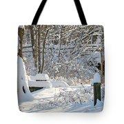 Fresh Snowfall  Tote Bag