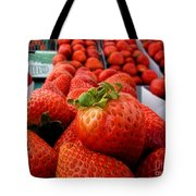 Fresh Strawberries Tote Bag by Peggy Hughes