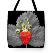 Fresh Strawberry And Leaves Tote Bag