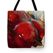 Fresh Strawberry Pie Tote Bag