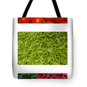 Fresh Vegetable Triptych Tote Bag