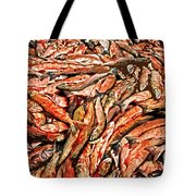 Freshly Catched Salmons At The Nenana River - Ak Tote Bag