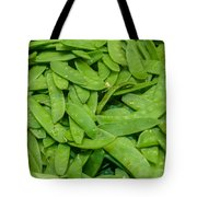 Freshly Harvested Peas On Display At The Farmers Market Tote Bag