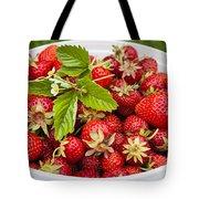 Freshly Picked Strawberries Tote Bag