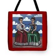Frida Beside Myself Tote Bag