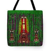 Frida Kahlo Have Arrived With Friends To The Fantasy Forest Tote Bag